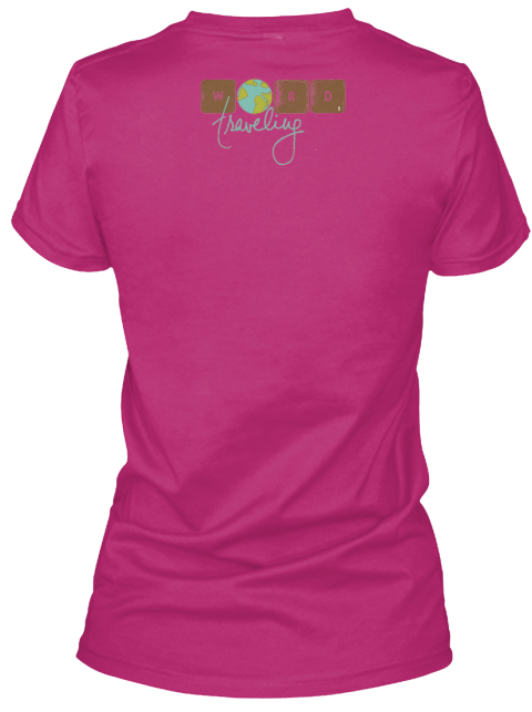 Will Blog For Travel Tee  Travel Blogger Berry T-Shirt Back