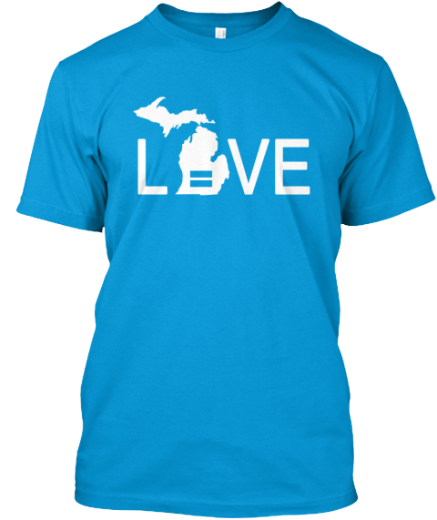 Michigan Pride Teal T-Shirt Front