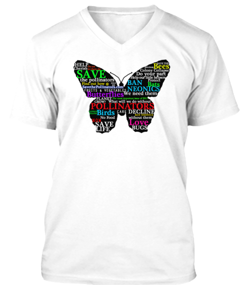 Help Save The Pollinators White T-Shirt Front