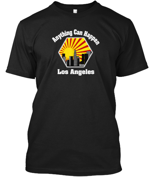 Moving To Los Angeles T Shirts  Black T-Shirt Front