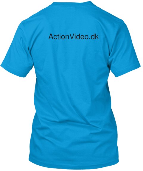 Action Video.Dk Teal T-Shirt Back