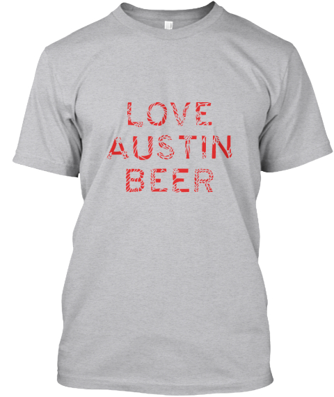 Love Austin Beer T Shirt Heather T-Shirt Front