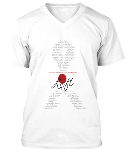 Lift   Authors Raising Autism Awareness White T-Shirt Front