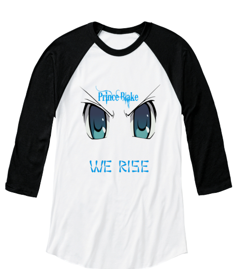 We Rise White/Black  Long Sleeve T-Shirt Front