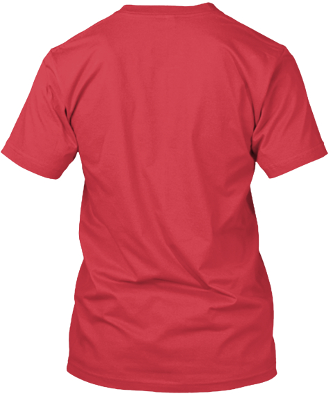 The Villin Clothing Company Canvas Red T-Shirt Back