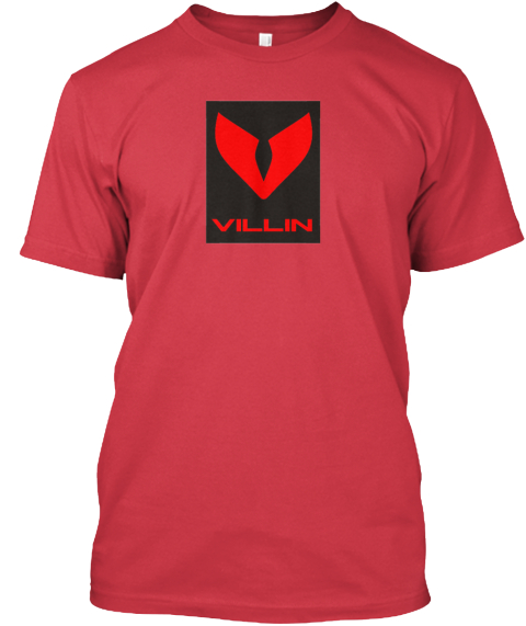 The Villin Clothing Company Canvas Red T-Shirt Front