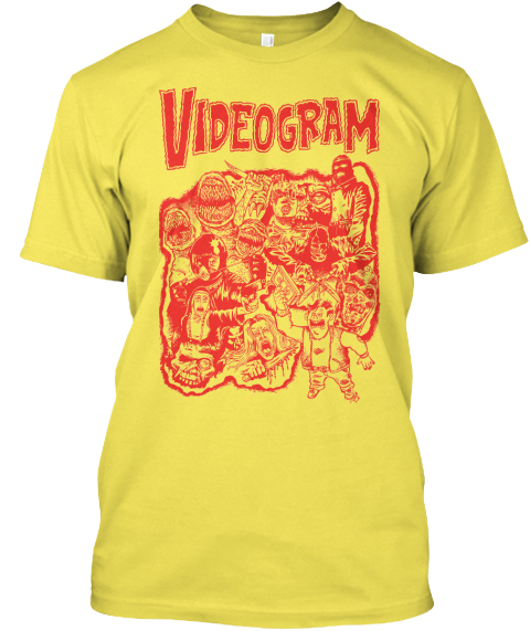 Videogram   Lunchmeat Vhs Artwork Tee! Yellow Camiseta Front
