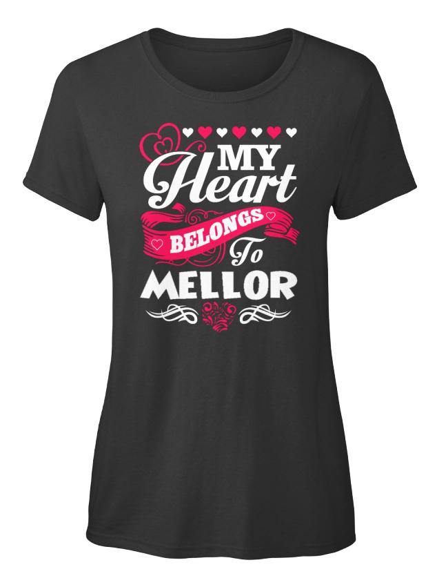 One-of-a-kind-Mellor-My-Heart-Belongs-To-Standard-Standard-Women-039-s-T-Shirt