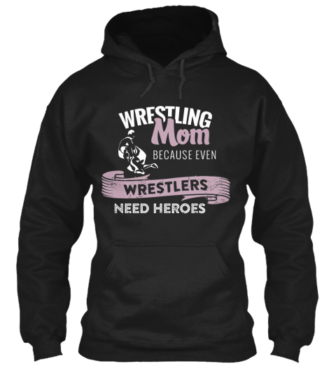 Wrestling Mom T Shirts Black Sweatshirt Front