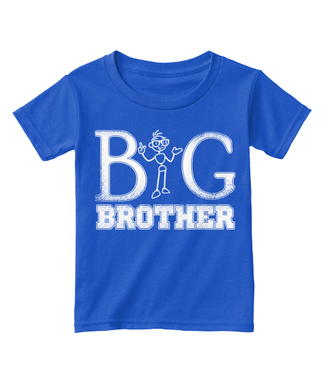 Big Brother T Shirts For Toddlers Royal  T-Shirt Front