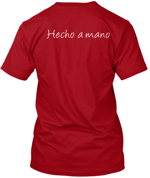 Hecho A Mano Deep Red T-Shirt Back