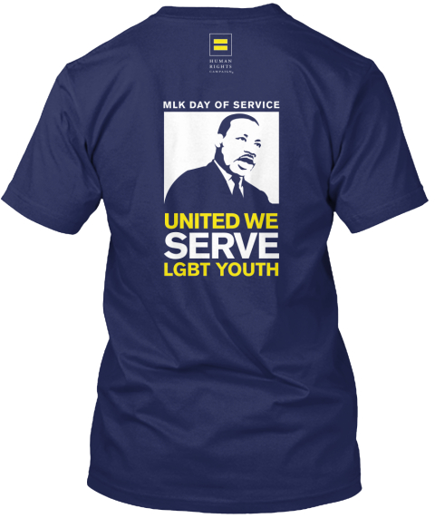 United We Serve Navy T-Shirt Back