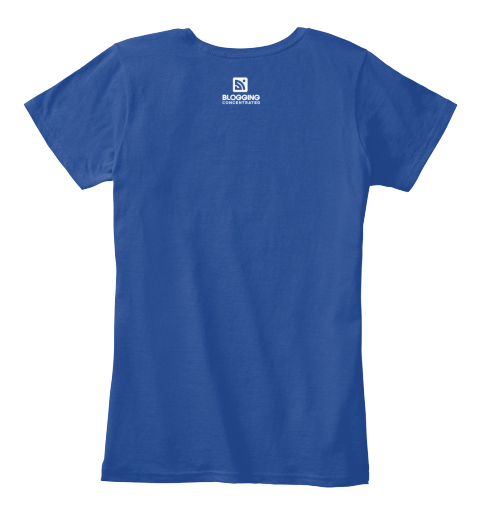 June Blogging Shirt Of The Month Deep Royal  Women's T-Shirt Back