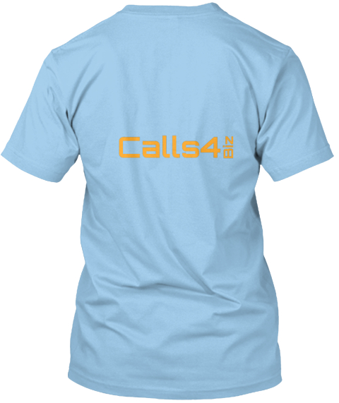 Calls4 Biz Light Blue T-Shirt Back