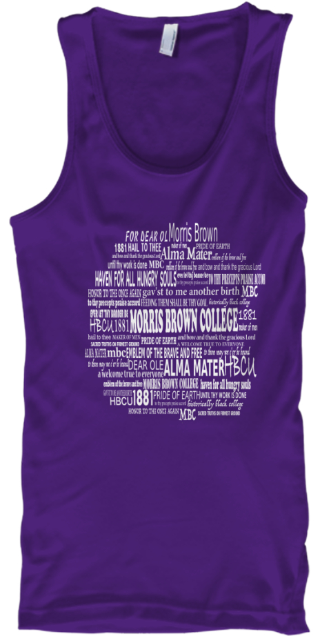 Morris brown alma mater tanks and tees products teespring for Alma mater t shirts