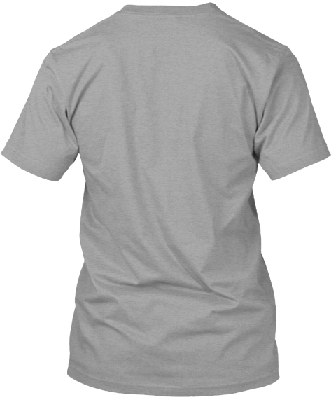 I Love Bicycle Light Heather Grey  T-Shirt Back