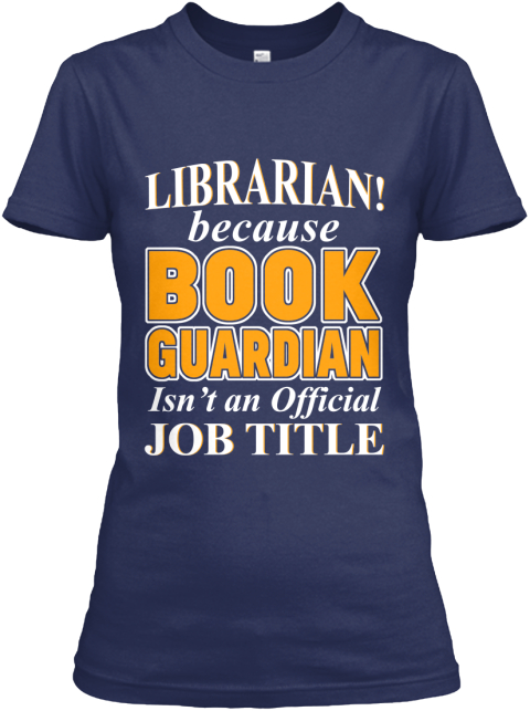 **I Am A Book Guardian** Navy Women's T-Shirt Front