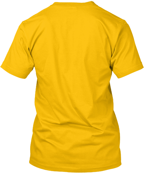 The Grickle Channel T Shirt! Gold T-Shirt Back