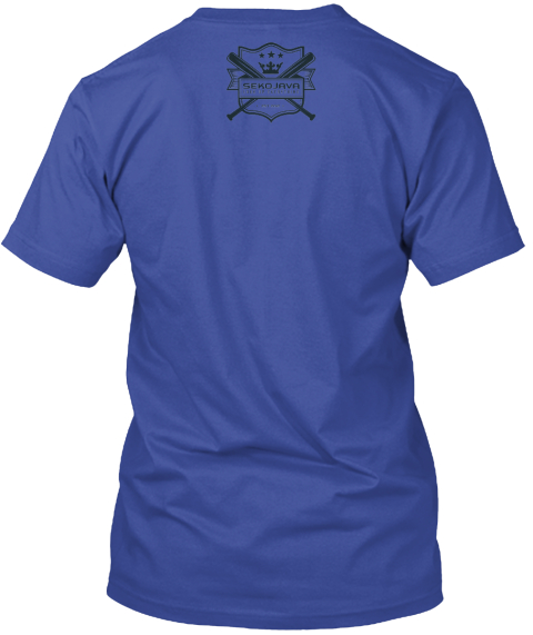 Avaible Now ! Soldier Shirt Deep Royal T-Shirt Back