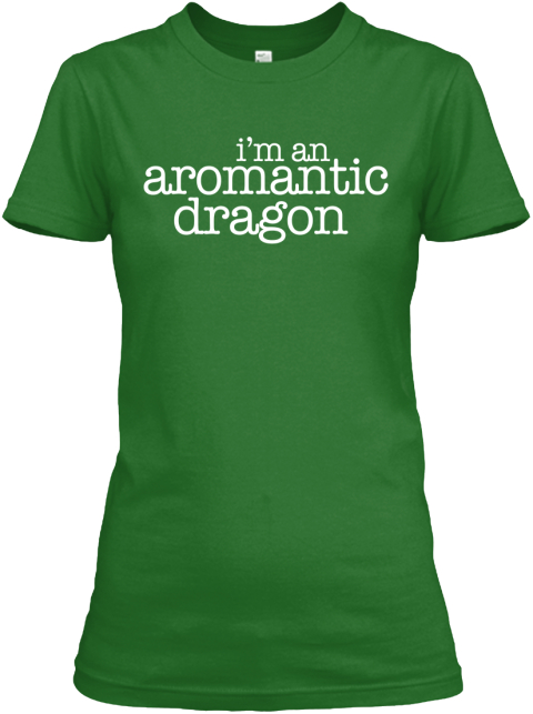 I'm An Aromantic Dragon Irish Green Women's T-Shirt Front
