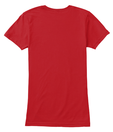Canadiana Fashionista T Shirt  Red T-Shirt Back
