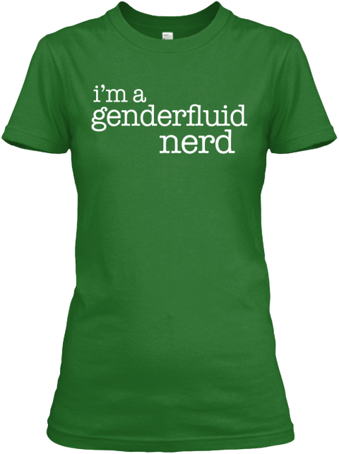 I'm A Genderfluid Nerd Irish Green Women's T-Shirt Front