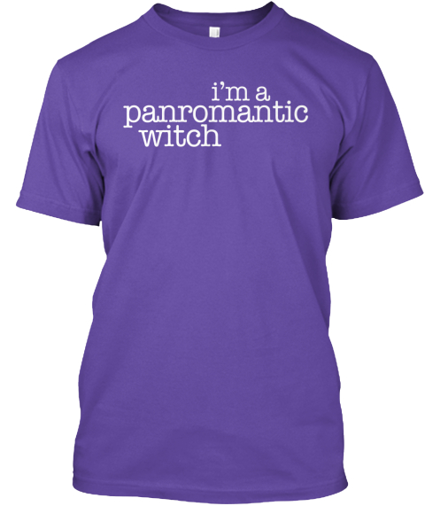 I'm A Panromantic Witch  Purple T-Shirt Front