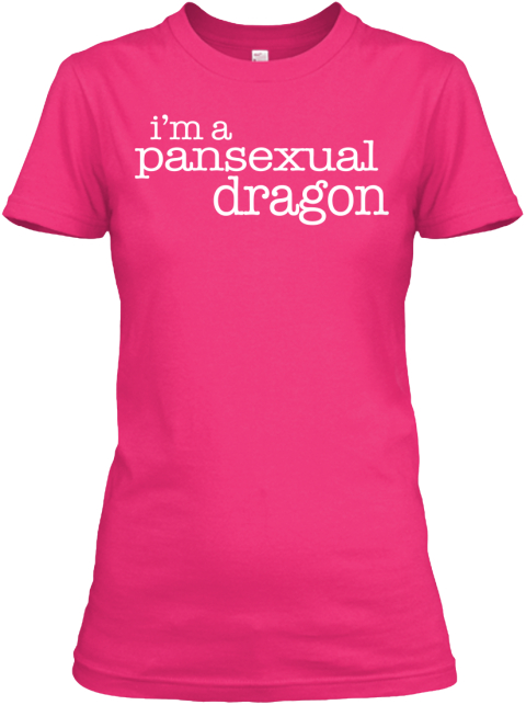 I'm A Pansexual Dragon  Heliconia Women's T-Shirt Front