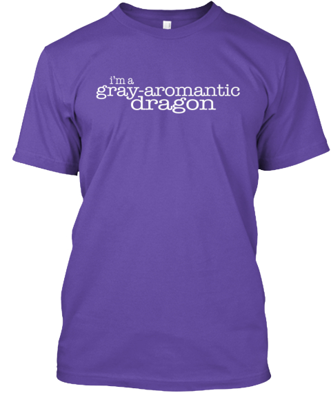 I'm A Gray Aromantic Dragon Purple T-Shirt Front