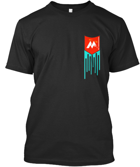 Mountain Top Designs Drip Pocket Black T Shirt Front