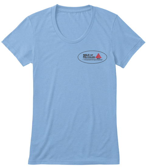 Nails Of Missouri Athletic Blue T-Shirt Front