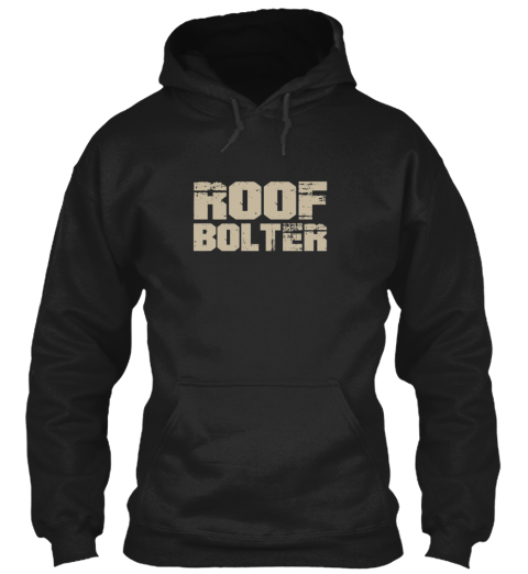 Roof Bolter My Craft Black T-Shirt Front