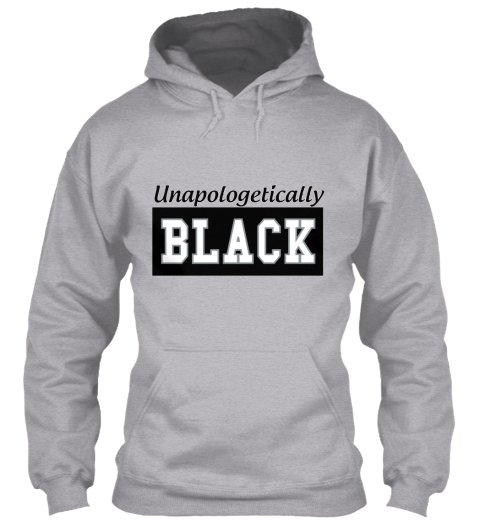 Unapologetically Black Sport Grey Sweatshirt Front