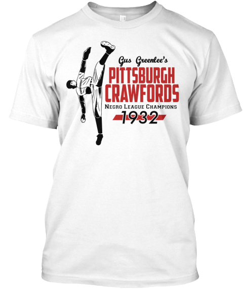 1932 Pittsburgh Crawfords White T-Shirt Front