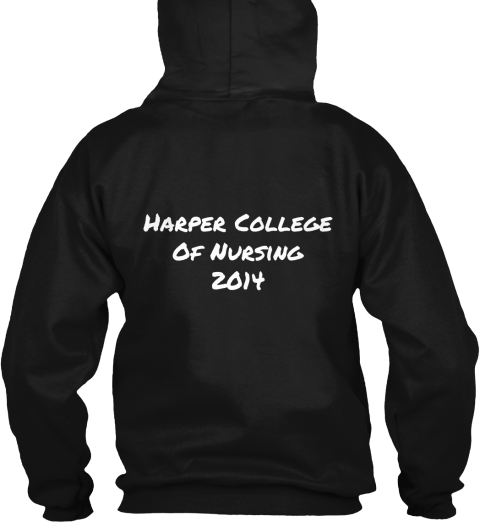 Harper College%0 A Of Nursing%0 A2014 Black T-Shirt Back