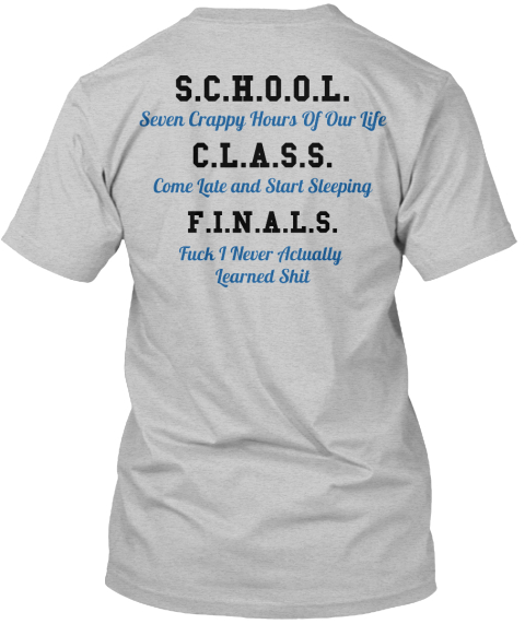 Back To School ? Not Sold In Stores - S.C.H.O.O.L. Seven ...