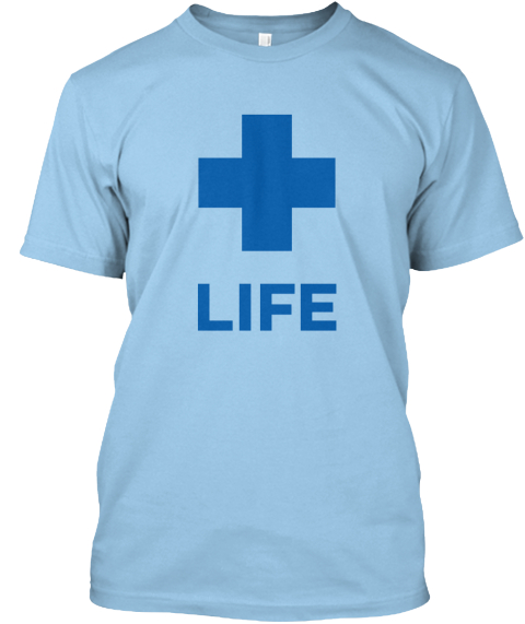 Proliferation Light Blue T-Shirt Front