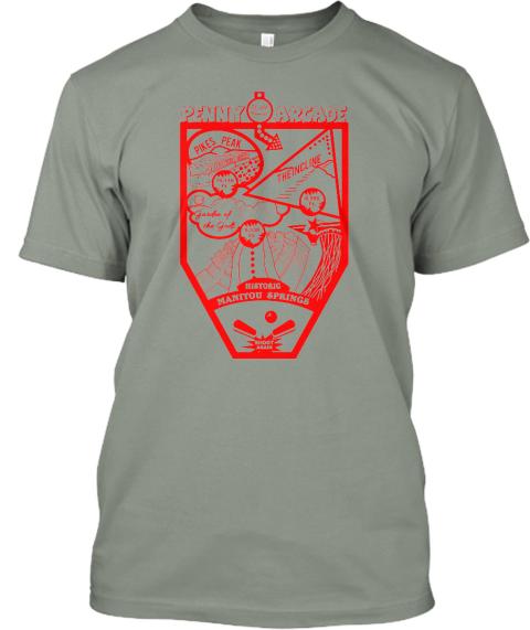 Manitou springs t shirt 2015 pinball teespring for T shirt printing in colorado springs