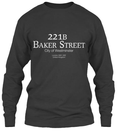 Sherlock 221b Manicotto Lungo Maglietta bMsj6