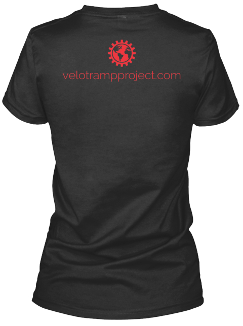 Velotrampproject.Com Black Women's T-Shirt Back