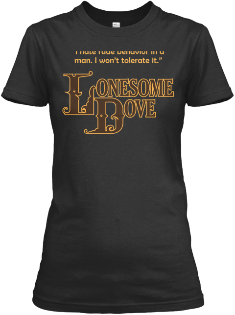 'lonesome Dove' Apparel Black T-Shirt Front