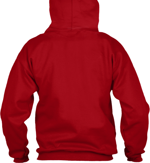 Keep Calm And Braaap On Hoodie Deep Red T-Shirt Back