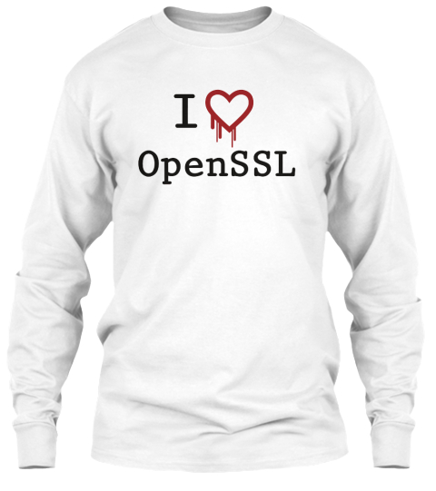 I Heartbleed Open Ssl White Long Sleeve T-Shirt Front