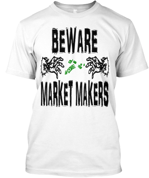 Market Makers White T-Shirt Front