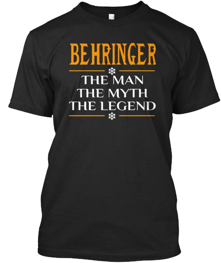 Easy-Care Behringer-l' homme Myth legend legend legend Standard Standard Unisexe T-Shirt 26030b