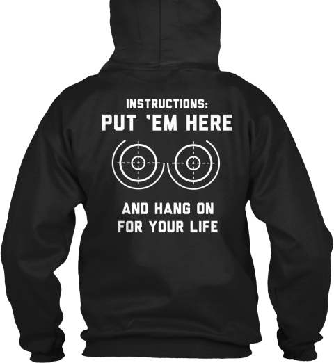 Put 'Em Here! Black Sweatshirt Back