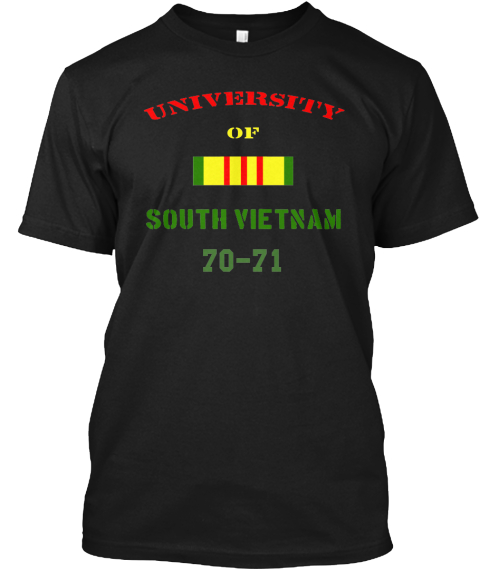 University Of South Vietnam 70 71 Black T-Shirt Front