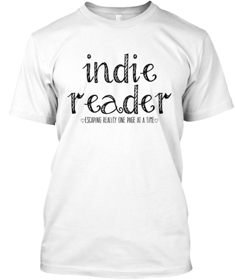 Indie Reader ♡ White T-Shirt Front