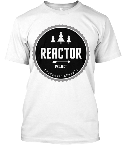Reactor White T-Shirt Front
