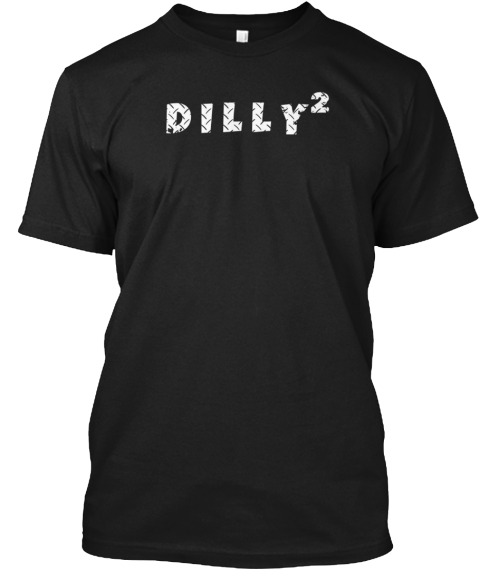 Dilly Squared Long Sleeve T Shirt Black T-Shirt Front